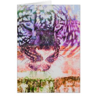 Rainbow Jaguar Cat Design Card