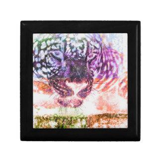 Rainbow Jaguar Cat Design Gift Box