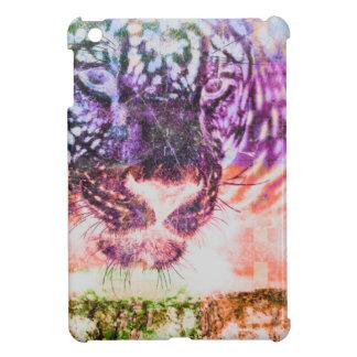 Rainbow Jaguar Cat Design iPad Mini Cover