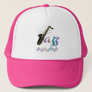 Rainbow Jazz Saxophone Music Hat