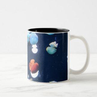Rainbow Jelly Fish  Monogram Coffee Mug