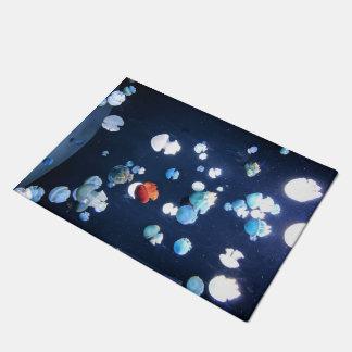 Rainbow Jelly Fish  Monogram Doormat