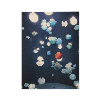 Rainbow Jelly Fish  Monogram Poster