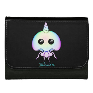 Rainbow Jellyfish Large Leather Wallet