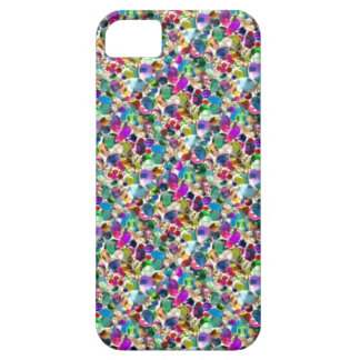 Rainbow Jewel Rhinestone Graphic Bling iPhone Case