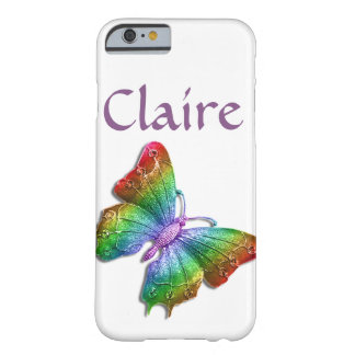 Rainbow Jeweled Butterfly 3D Personalized Barely There iPhone 6 Case