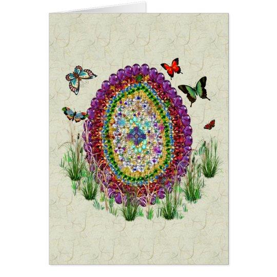 Rainbow Jewels Easter Egg Card
