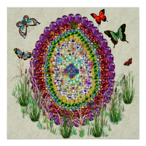 Rainbow Jewels Easter Egg Poster
