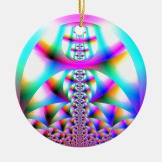 Rainbow Kaleidoscope Round Ceramic Decoration