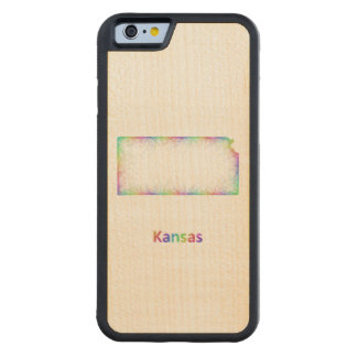 Rainbow Kansas map Maple iPhone 6 Bumper
