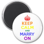 Rainbow Keep Calm and Marry On Magnet