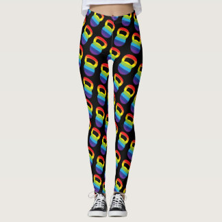 Rainbow Kettlebell Workout Leggings