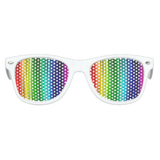 Rainbow Kids Party Shades, White Kids Sunglasses