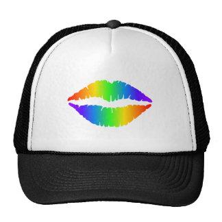 Rainbow Kiss, Colorful Lips Cap