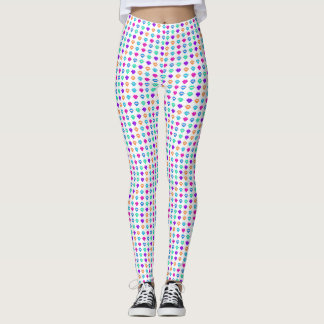 Rainbow kiss lips leggings