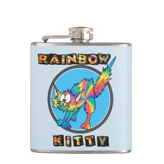Rainbow Kitty Flask #1