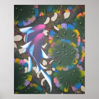 rainbow koi poster