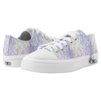 Rainbow lace low tops