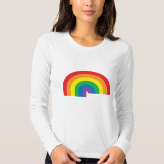 Rainbow Ladies Long Sleeve (Fitted) T Shirts