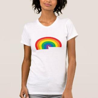Rainbow Ladies Twofer Sheer Tshirts