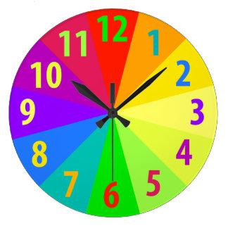 Rainbow Large Clock