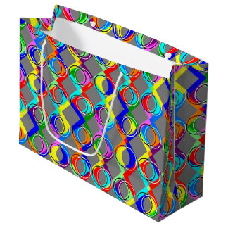 Rainbow Lattice and Circles Large Gift Bag