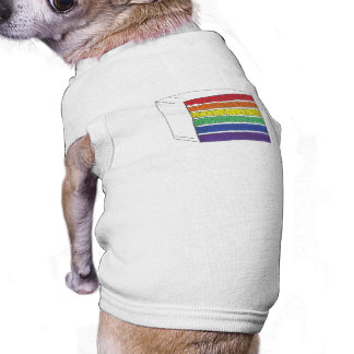Rainbow Layer Cake Slice LGBT Gay Pride Pet Shirt
