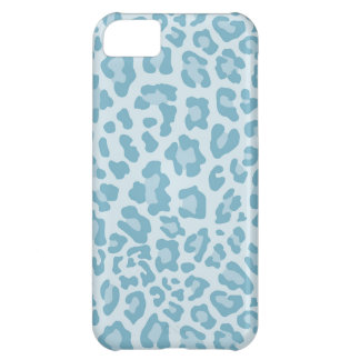 Rainbow Leopard Print Collection - Light Blue iPhone 5C Case