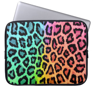 rainbow leopard print laptop sleeve