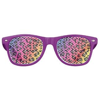 Rainbow Leopard Print Retro Sunglasses