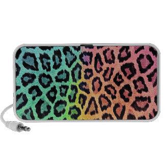 rainbow leopard print PC speakers