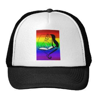 Rainbow Lesbian Romance Trucker Hat