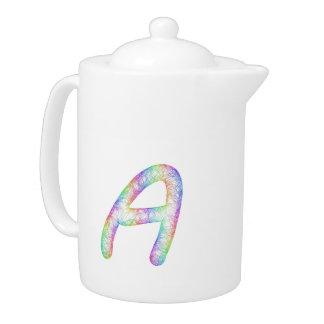 Rainbow letter A monogram