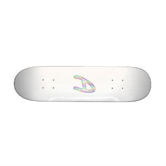 Rainbow letter A monogram Skateboard