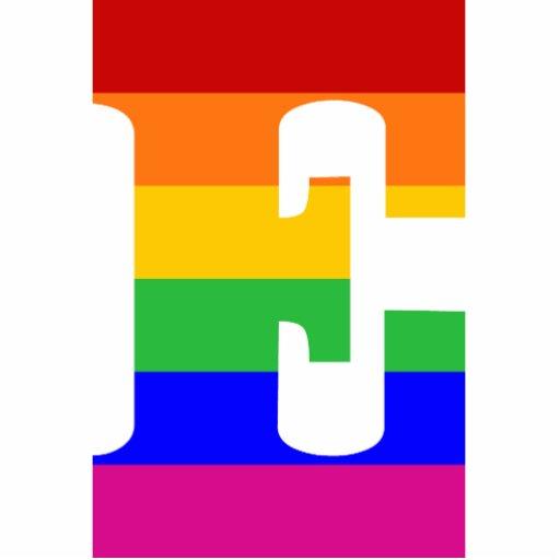 Rainbow Letter E Photo Cutouts | Zazzle