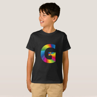Rainbow Letter 'G for Kids' Hanes TAGLESS® T-Shirt