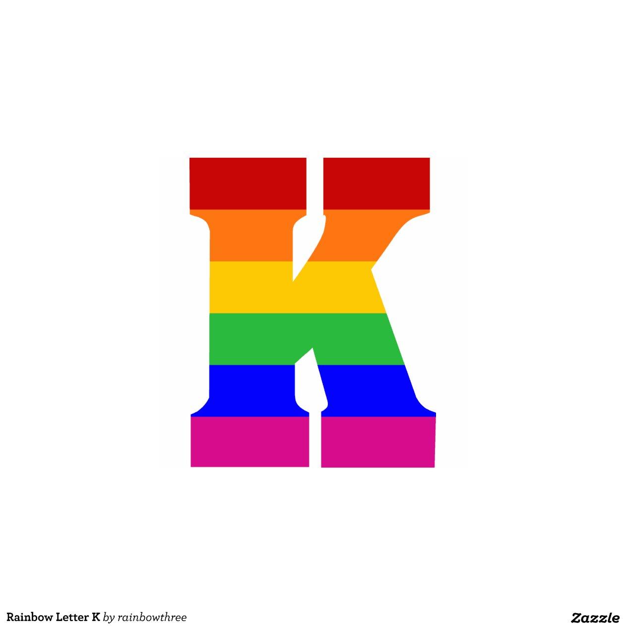 Rainbow Letter K Photo Cutout Zazzle
