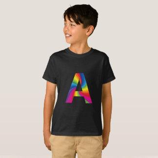 Rainbow Letter Kids' Hanes TAGLESS® T-Shirt