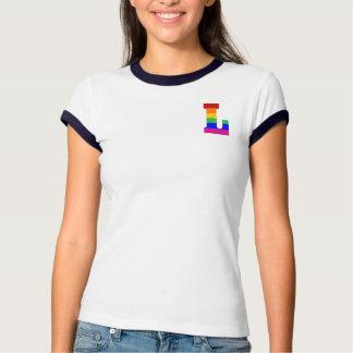 Rainbow Letter L T Shirt
