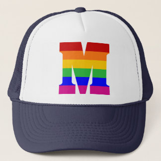 Rainbow Letter M Trucker Hat