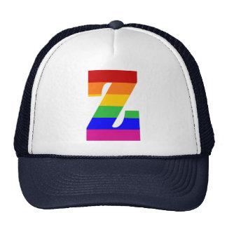 Rainbow Letter Z Cap