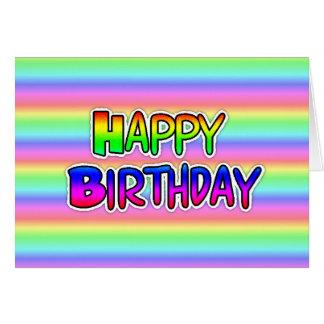 Rainbow LGBT Happy Birthday Card