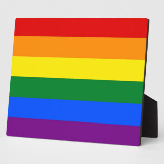 Rainbow LGBT Pride Flag Plaque