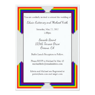 Rainbow LGBT Wedding Invitation