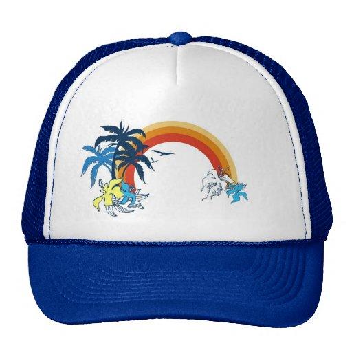 RAINBOW LID TRUCKER HATS