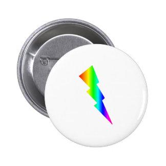 Rainbow Lightning Pinback Button
