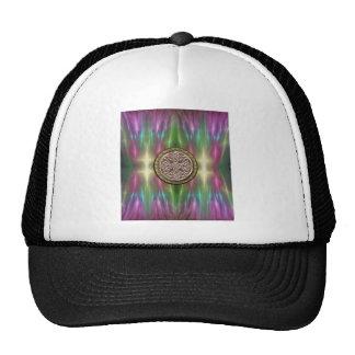 Rainbow Lights Gold Stone Celtic Shield Knot Hat