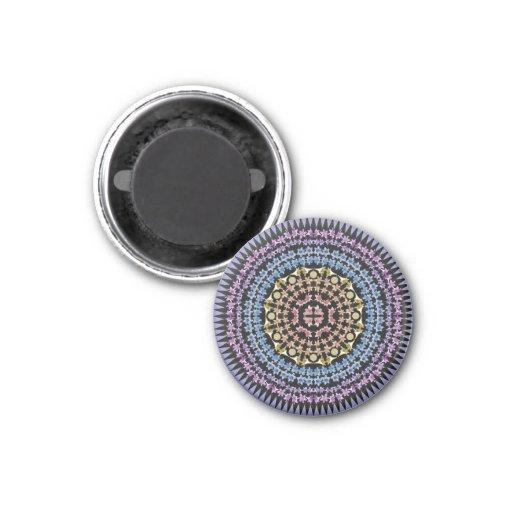 Rainbow Lily Mandala Magnet