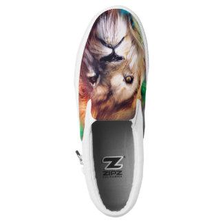 Rainbow Lion Slip-on. Slip-On Shoes