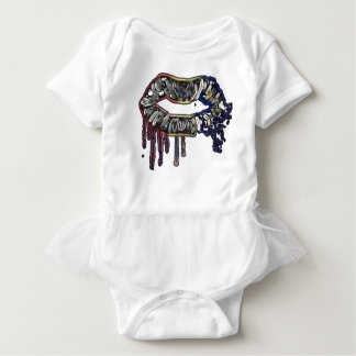 Rainbow lips design baby bodysuit